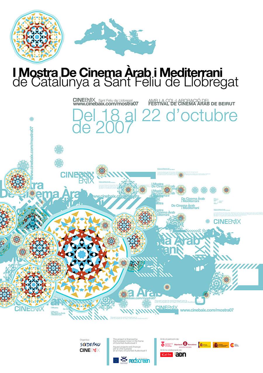Cartell I Mostra de Cinema Àrab i Mediterrani de Catalunya a Sant Feliu de Llobregat 2007