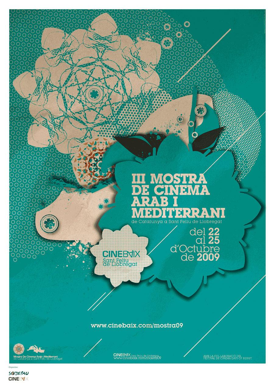 Cartell III Mostra de Cinema Àrab i Mediterrani de Catalunya a Sant Feliu de Llobregat 2009