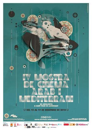Cartell IV Mostra de Cinema Àrab i Mediterrani de Catalunya a Sant Feliu de Llobregat 2010